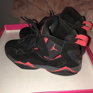 Girls Jordan black and pink